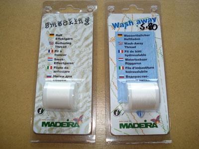 Madeira wasserlöslicher Heftfaden