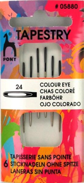 Pony Nadeln 6 Sticknadeln ohne Spitze #05880
