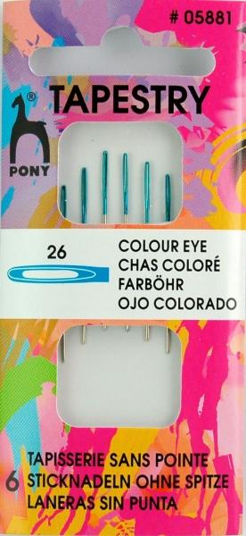 Pony Nadeln 6 Sticknadeln ohne Spitze #05881