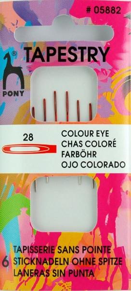 Pony Nadeln 6 Sticknadeln ohne Spitze #05882