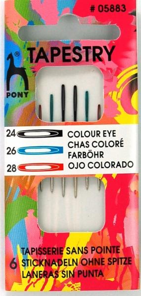 Pony Nadeln 6 Sticknadeln ohne Spitze #05883