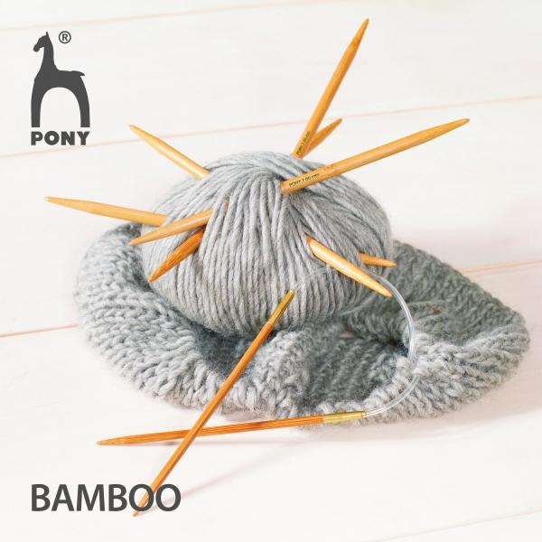Pony Nadeln Nadelspiel Bamboo, Gr. 4.5, #66910